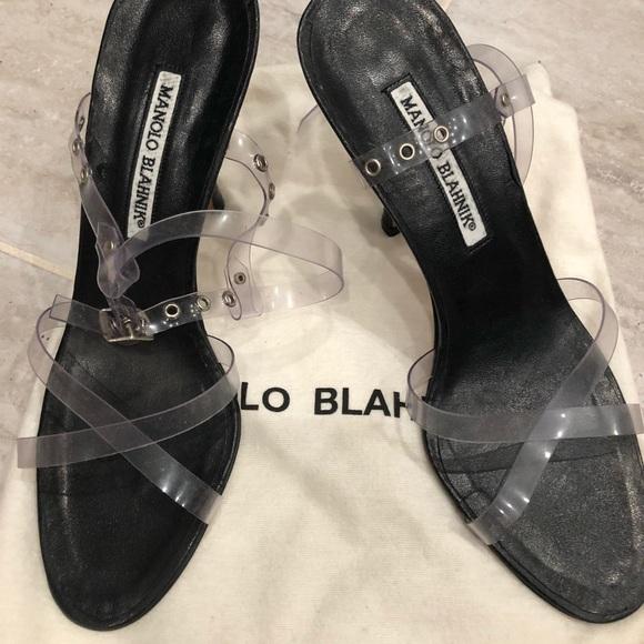 bac4e3736f6d1 Manolo Blahnik lucite strappy high heel sandals. Manolo Blahnik.  M_5cc5d86e29f0309c5e0d459f. M_5cc5d8708d653d871d37154c.  M_5cc5d8716a7fba51e7507558